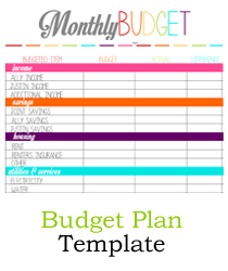 how to make a budget plan template - budget plan